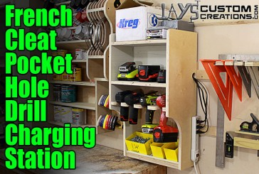How To Make A French Cleat Pocket Hole Drill Charging Station