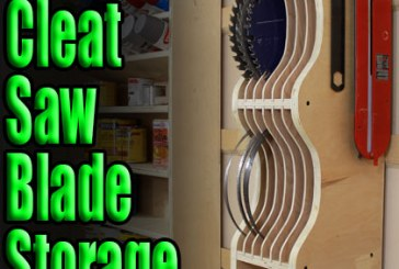 How To Make A French Cleat Saw Blade Storage Rack