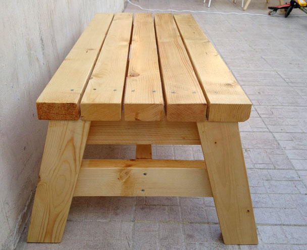How to build a simple sitting bench jays custom creations for 2x4 stool plans