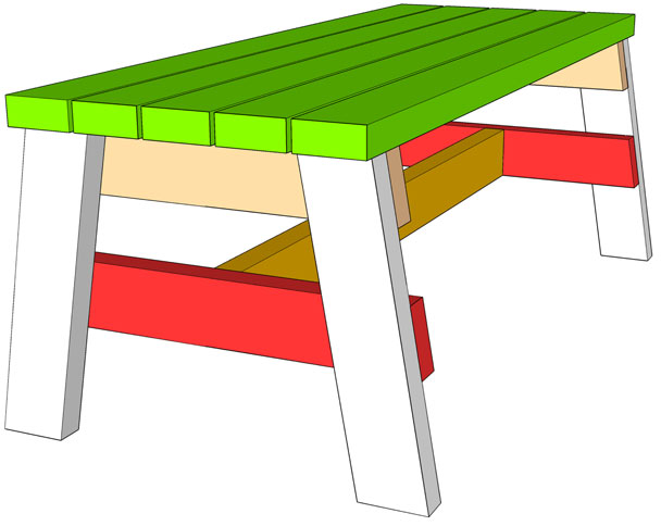 simple sitting bench sketchup