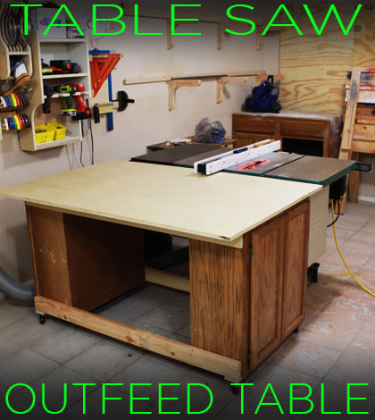an easy table saw outfeed table design that can be completely rh jayscustomcreations com