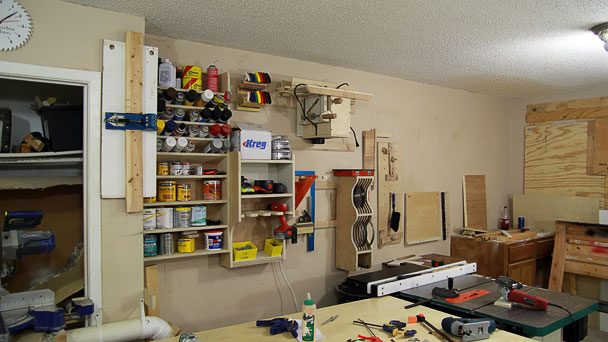 router table on wall