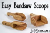 Easy Bandsaw Project – Bandsaw Scoops