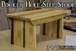 Pocket Hole Step Stool #2