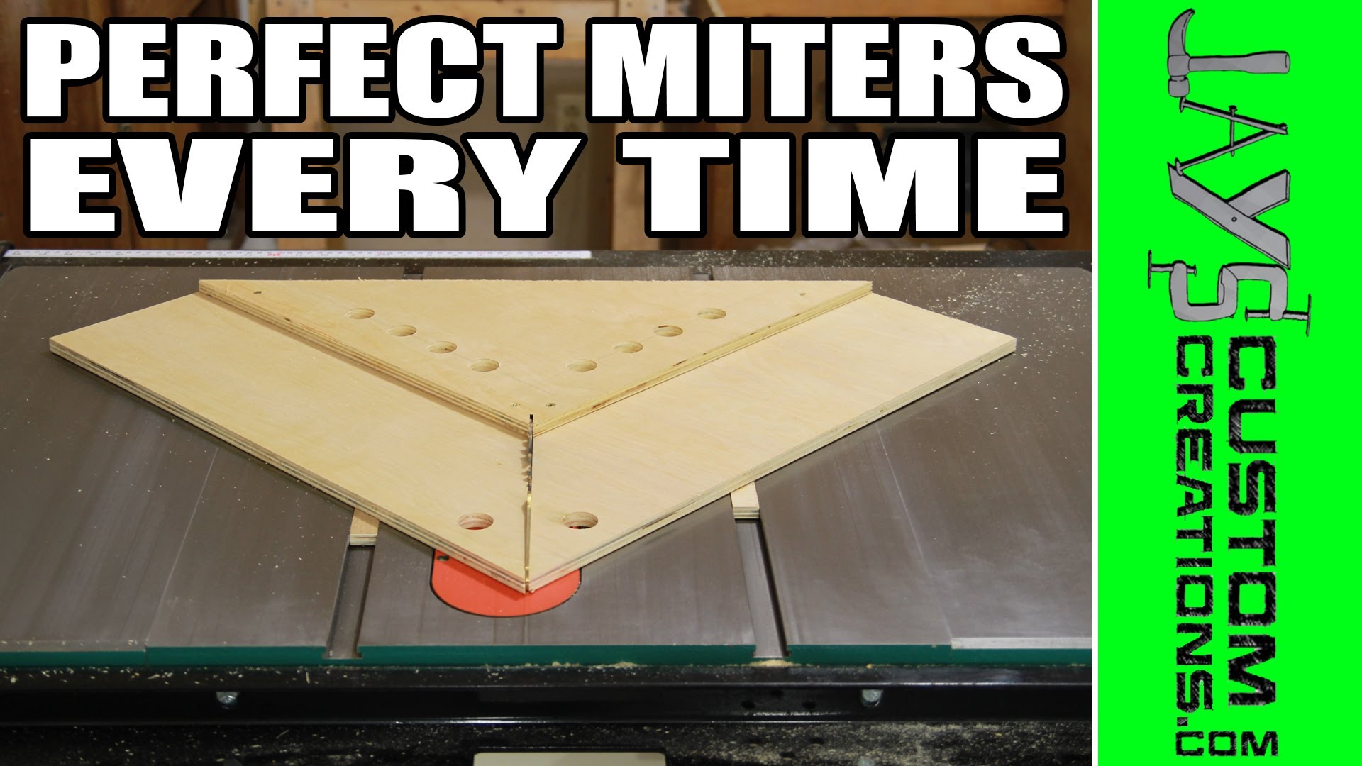 PERFECT Miters With A Table Saw Miter Sled | Jays Custom Creations