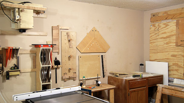 miter sled on the wall