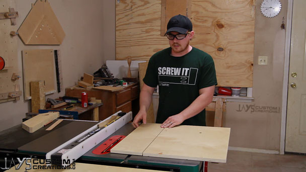 how to cut wide shims on table saw