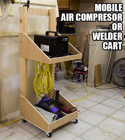 Make An Air Compressor Or Welder Cart Jays Custom Creations