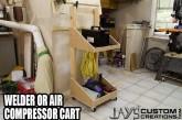Make An Air Compressor Or Welder Cart