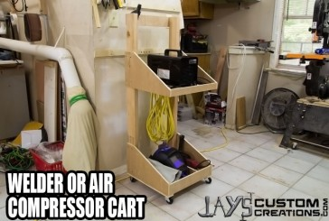 Make An Air Compressor Or Welder Cart