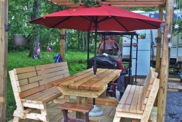 George Mason's Summer Campground Setup
