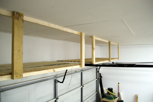 adding storage above the garage door jays custom creations. Black Bedroom Furniture Sets. Home Design Ideas