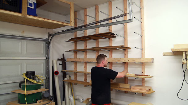 Inexpensive Conduit Lumber Rack | Jays Custom Creations