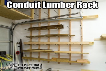 Inexpensive Conduit Lumber Rack