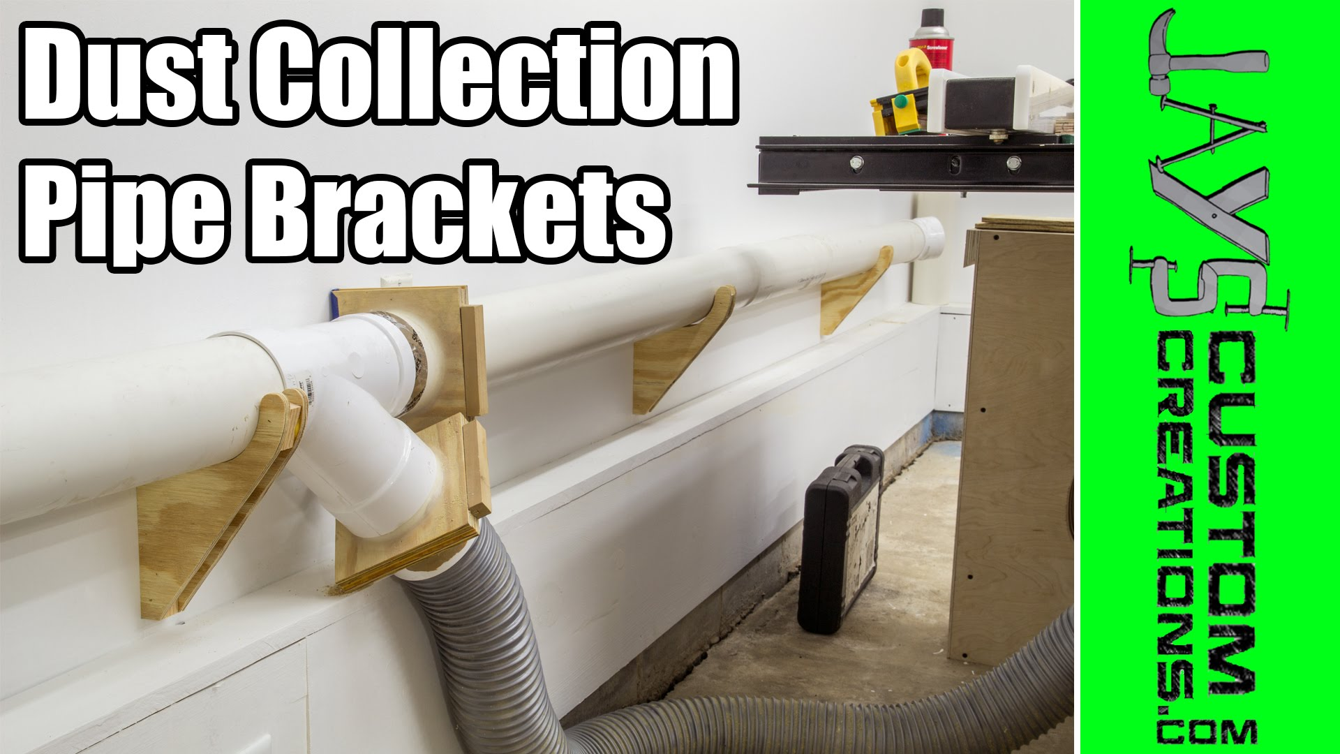 Dust Collection Pipe Hanger Brackets Jays Custom Creations
