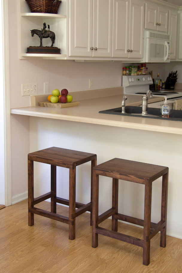 JCC 2x4 bar stools (3) ... - How To Make A Half Lap Bar Stool From 2x4s Jays Custom Creations