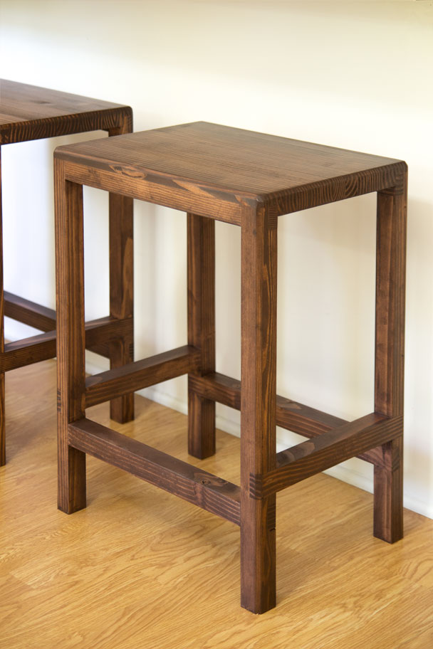 How To Make A Half Lap Bar Stool From 2x4s Jays Custom
