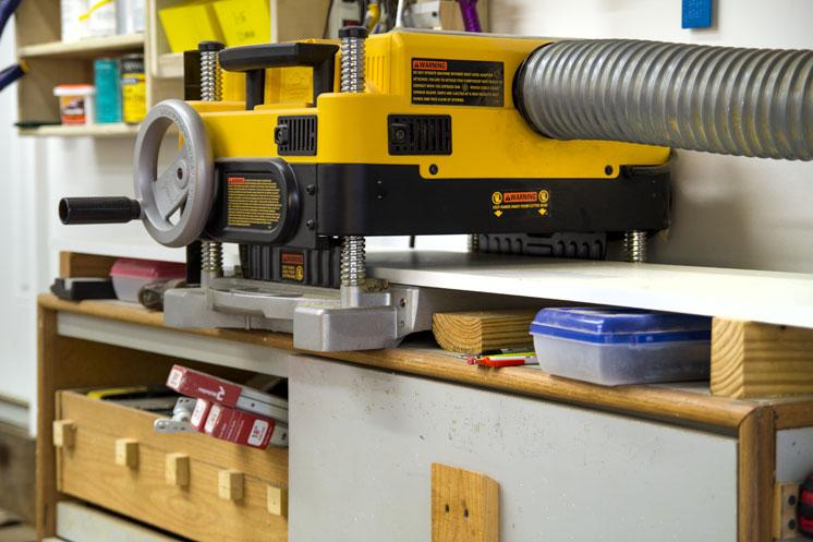 dewalt planer stand. dw735 planer setup (8) dewalt stand
