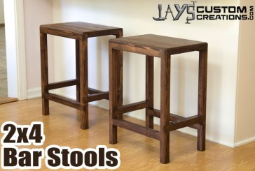 How To Make A Half Lap Bar Stool From 2x4s