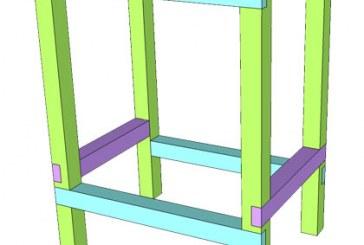SketchUp: 2×4 Half Lap Bar Stools