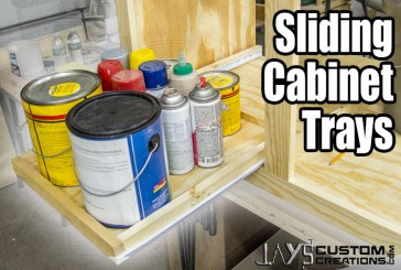 Super EASY DIY Slide Out Cabinet Trays (Free Plan!)
