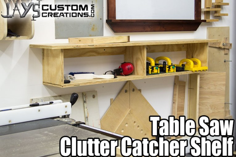 Table Saw Clutter Catcher Shelf