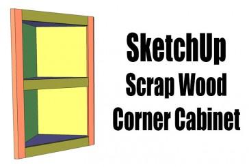 SketchUp – Pocket Hole Corner Cabinet
