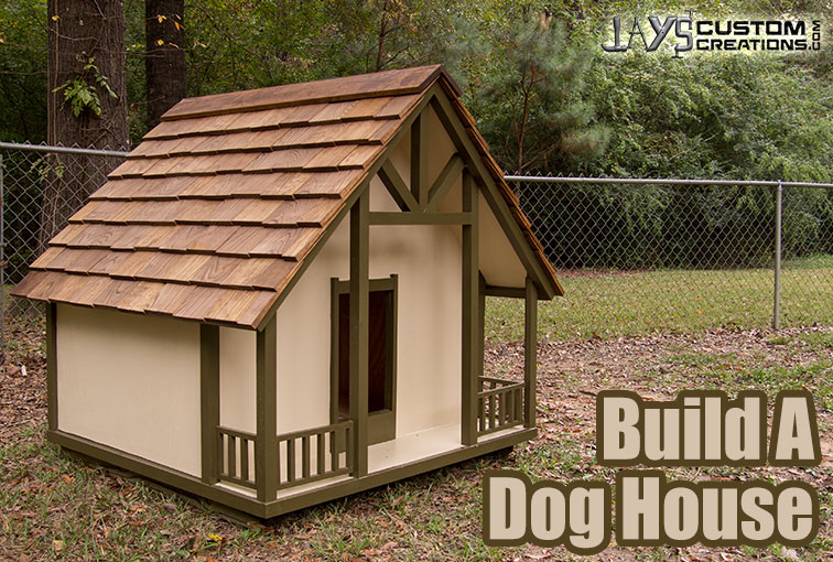 Cottage style dog house plan jays custom creations Custom build a house online