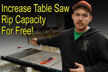 Increasing Table Saw Rip Capacity For Free