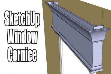 SketchUp: The Best Tool For Mouldings – Making A Window Cornice