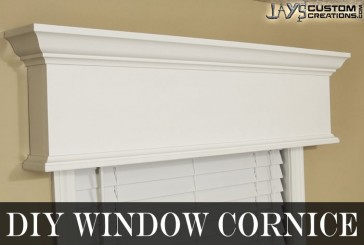 Easy DIY Window Cornice