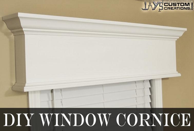 Easy DIY Window Cornice Jays Custom Creations