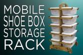 Plastic Shoe Box Organizer Rack