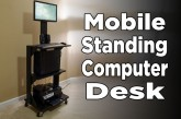 DIY Mobile Stand Up Computer Desk