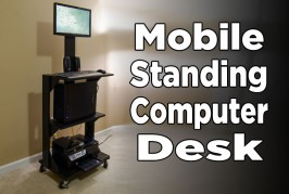 DIY Mobile Stand Up Computer Desk