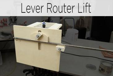 Quick Action Lever Router Lift