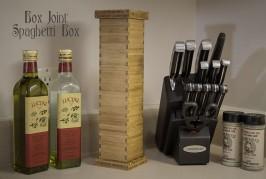 Bamboo Box Joint Spaghetti Box