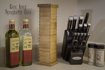 Bamboo Box Joint Spaghetti Box