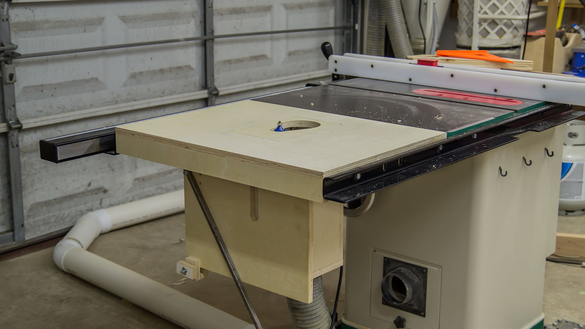 Making A Table Saw Extension Wing For A Router Lift Jays
