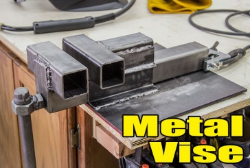 Making A Metal Vise From Square Tubing