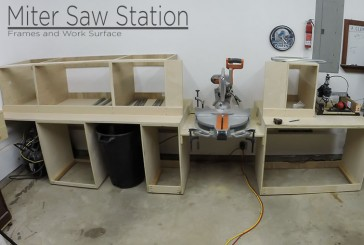 Miter Saw Station Cabinets and Work Surface