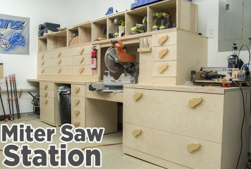 Miter Saw Station Storage Boxes and Drawer Fronts