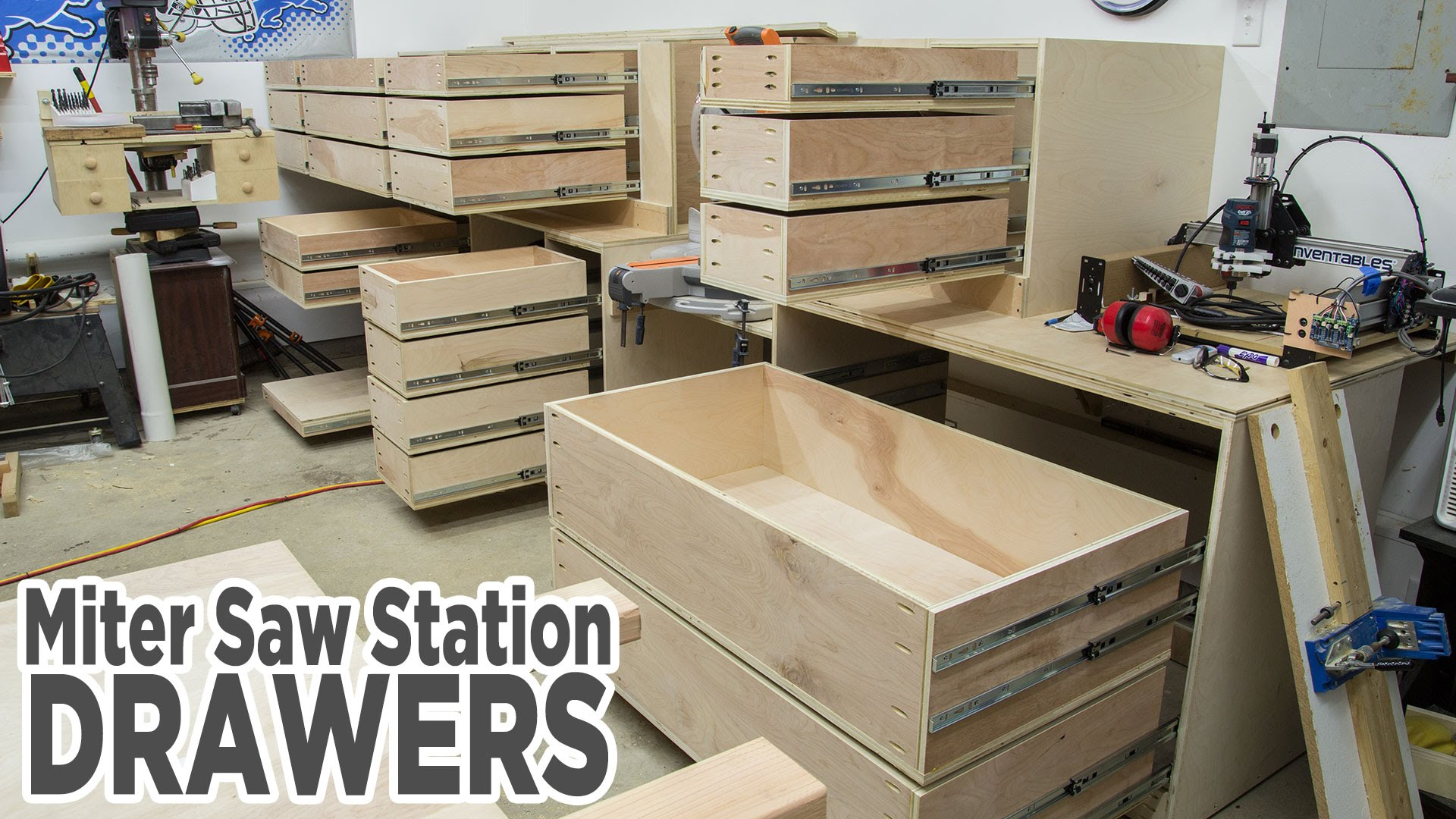 Adding Storage Drawers To The Miter Saw Station Jays