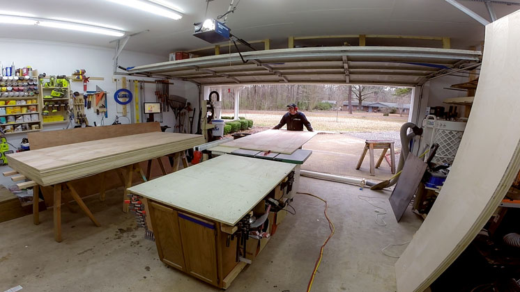Miter Saw Station Cabinets and Work Surface Jays Custom