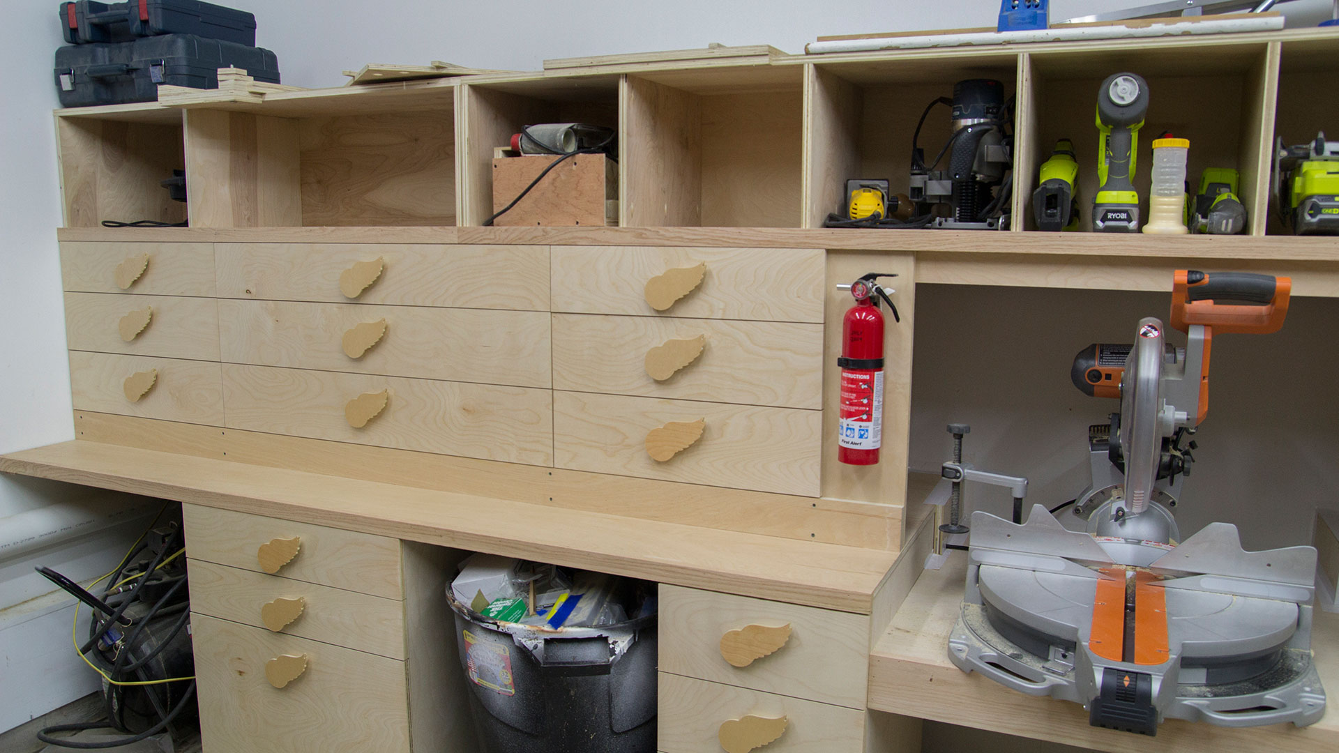 Miter Saw Station Storage Boxes And Drawer Fronts Jays