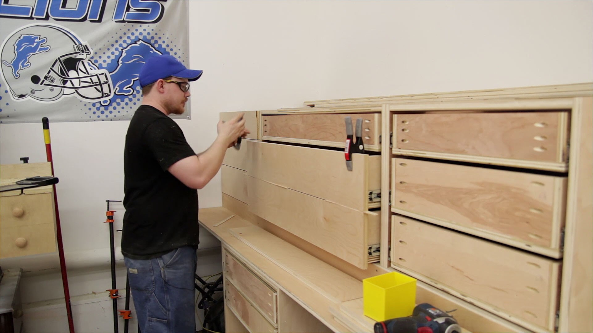 miter saw station storage boxes and drawer fronts (7)