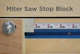 Super Simple Stop Block For a Miter Saw Station