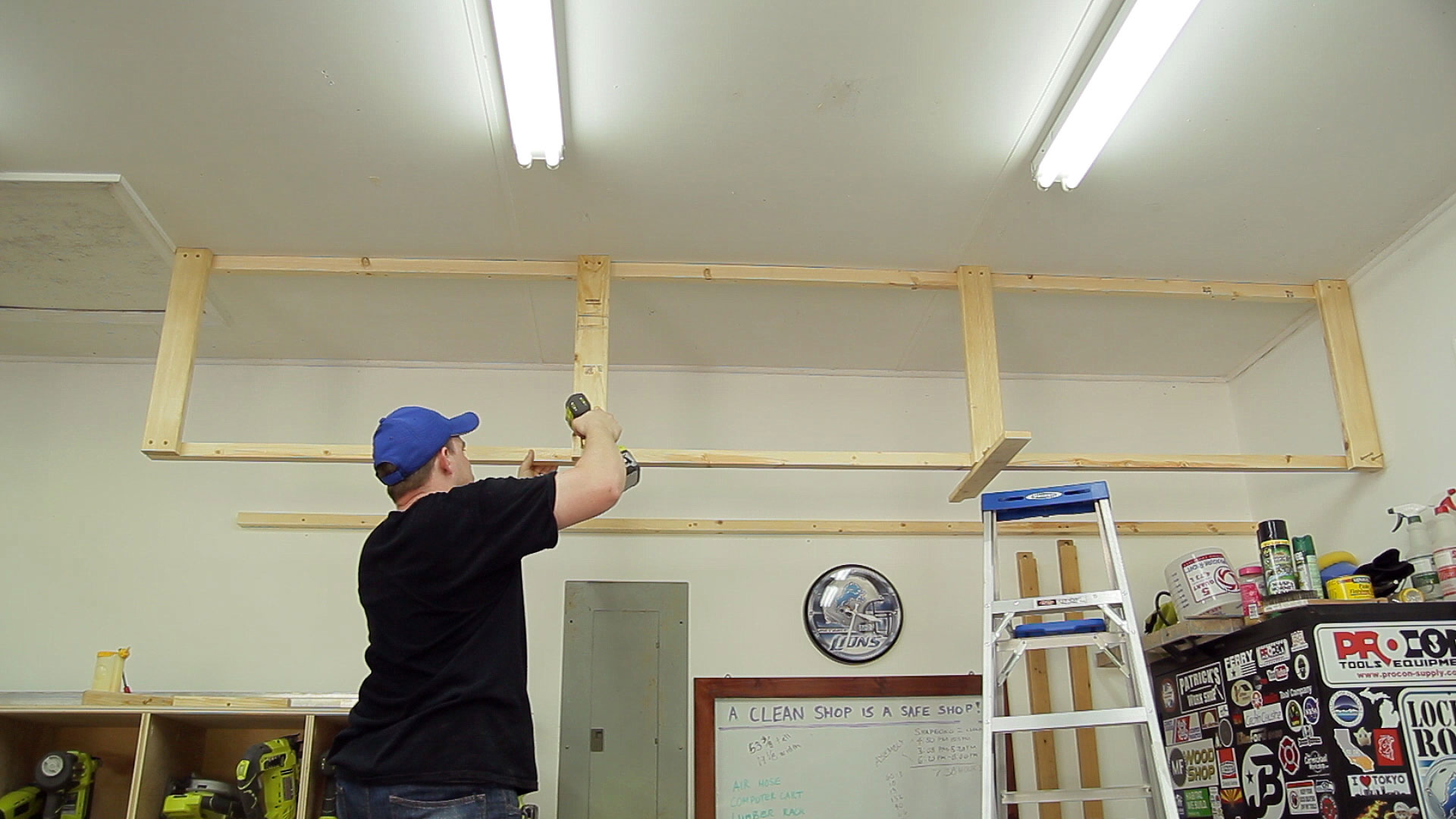 Wasted Space Garage Storage Shelves | Jays Custom Creations