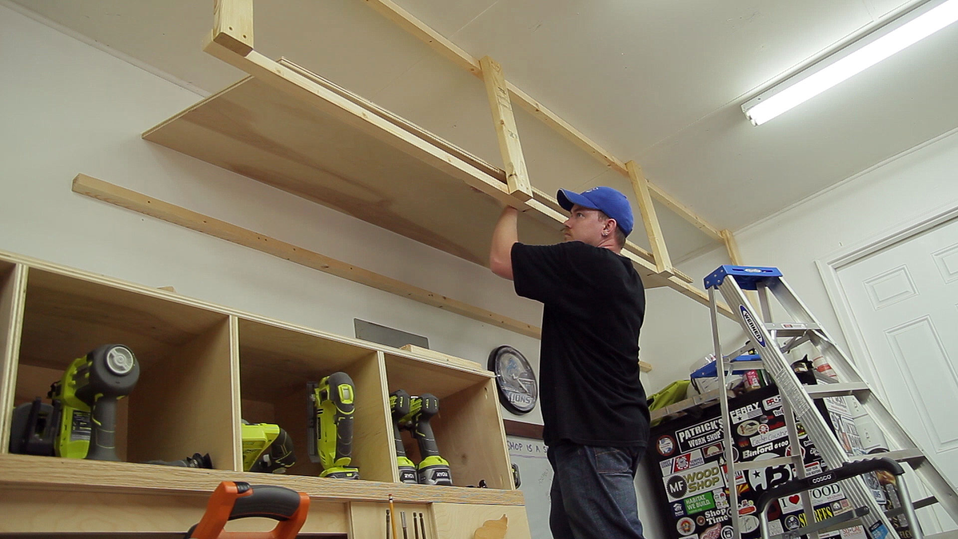 Wasted space garage storage shelves jays custom creations garage storage shelves 14 solutioingenieria Gallery