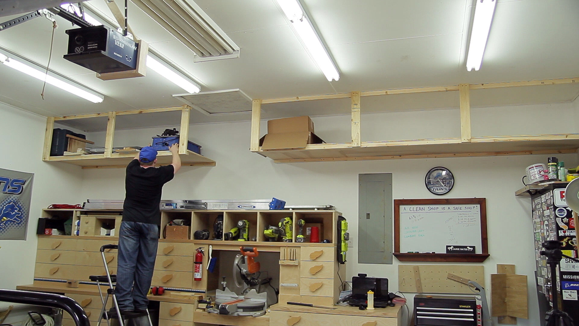 Wasted Space Garage Storage Shelves | Jays Custom Creations